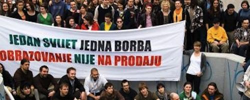 student protests Zagreb