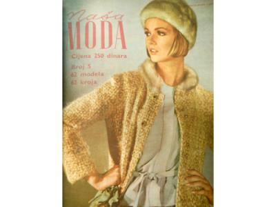 A cover of the magazine 'Naša Moda', Zagreb, 1966