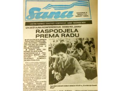 Cover of Sana factory magazine, 1983