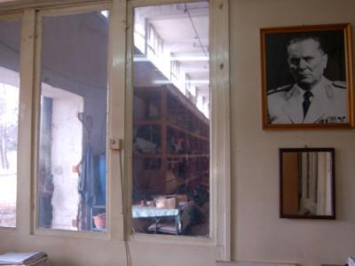 Portrait of Tito in the Makedonka warehouse